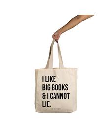 I Like Big Books Tote (Cotton Canvas, 14x14