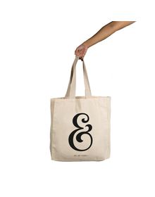 Ampersand Tote (Cotton Canvas, 14x14