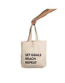 Set Goals  Tote (Cotton Canvas, 14x14