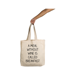 A Meal Without Wine Tote (Cotton Canvas, 14x14