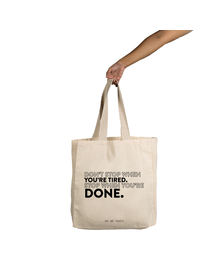 Don't Stop  Tote (Cotton Canvas, 14x14