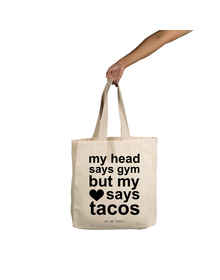 My Head Says Gym Tote (Cotton Canvas, 14x14