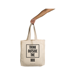 Think Outside The Box Tote (Cotton Canvas, 14x14