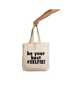Selfie Tote (Cotton Canvas, 14x14