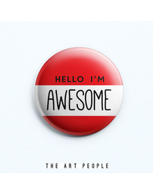 Awesome Badge (Safety Pin, 6cms)