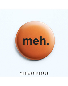 Meh Badge (Safety Pin, 6cms)