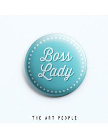 Boss Lady Badge (Safety Pin, 6cms)