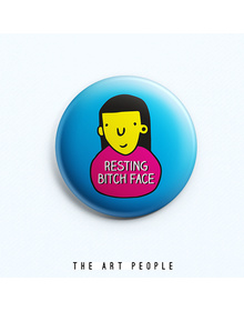 Bitch Face Badge (Safety Pin, 6cms)