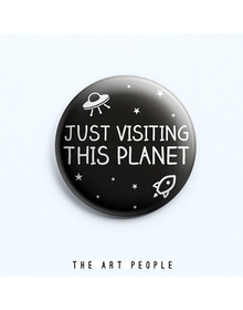 Just Visiting Badge (Safety Pin, 6cms)