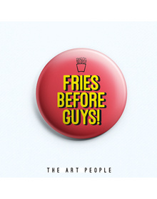 Fries Badge (Safety Pin, 6cms)
