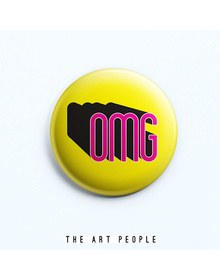OMG Badge (Safety Pin, 6cms)