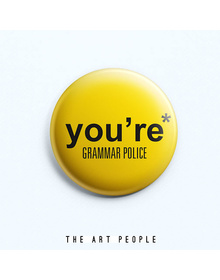 Grammar Police Badge (Safety Pin, 6cms)