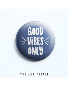 Good Vibes Badge (Safety Pin, 6cms)