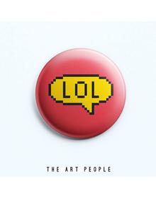 Lol Badge (Safety Pin, 6cms)
