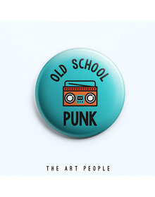 Old School Punk Badge (Safety Pin, 6cms)
