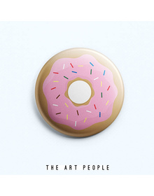 Donut Badge (Safety Pin, 6cms)