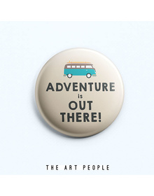 Adventure Badge (Safety Pin, 6cms)