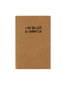Big Lists Notebook (Unruled, 90GSM, A5, 120 Pages)