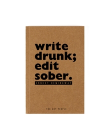 Write Drunk Notebook (Unruled, 90GSM, A5, 120 Pages)