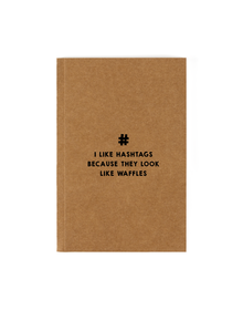 Hashtags Notebook (Unruled, 90GSM, A5, 120 Pages)