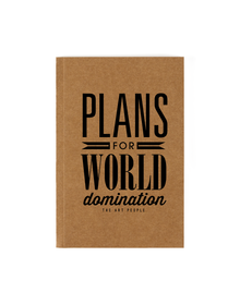 World Domination Notebook (Unruled, 90GSM, A5, 120 Pages)