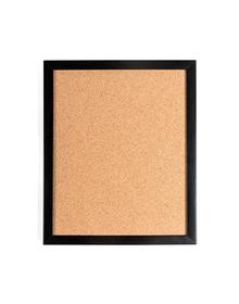 Black Framed Cork Pin Board (Cork, 40x32cm, Black)