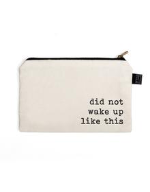 Wake Up Multi Purpose Pouch (Cotton Canvas, 21x15cm, White)