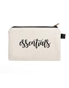 Essentials Multi Purpose Pouch (Cotton Canvas, 21x15cm, White)