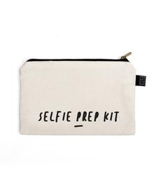 Selfie Multi Purpose Pouch (Cotton Canvas, 21x15cm, White)