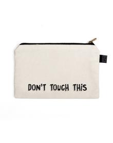 Don't Multi Purpose Pouch (Cotton Canvas, 21x15cm, White)