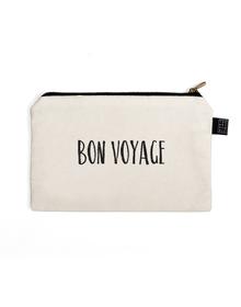 Bon Voyage Multi Purpose Pouch (Cotton Canvas, 21x15cm, White)
