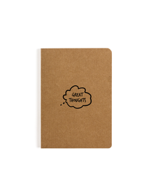 Great Thoughts Pocket Notebook (Ruled, 80GSM, A6, 90 Pages)