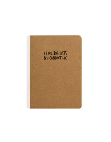 Big Lists Pocket Notebook (Ruled, 80GSM, A6, 90 Pages)
