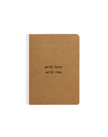 Write Here Write Now Pocket Notebook (Ruled, 80GSM, A6, 90 Pages)