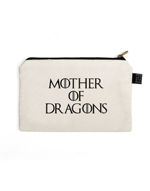 Mother Of Dragons Pouch (Cotton Canvas, 21x15cm, White)