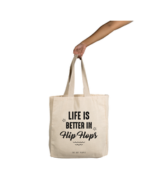 Life Is Better In Flip-Flops Tote (Cotton Canvas, 14x14)