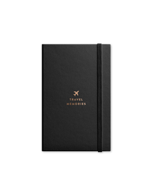 Travel Journal with Elastic  Band (Unruled, 90GSM, A5, 120 Pages)