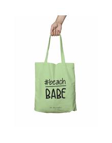 Beach Babe Green Tote Bag (Cotton Canvas, 39 x 37 cm)