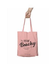 Feelin Beachy Pink Tote Bag (Cotton Canvas, 39 x 37 cm)