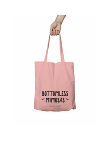 Bottomless Mimosas Pink Tote Bag (Cotton Canvas, 39 x 37 cm)