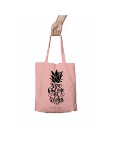 You Had Me at Aloha Pink Tote Bag (Cotton Canvas, 39 x 37 cm)