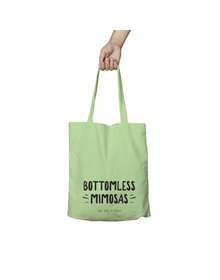 Bottomless Mimosas Green Tote Bag (Cotton Canvas, 39 x 37 cm)
