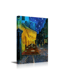 Terrace of the cafe by Van Gogh (Canvas, Digital Printed) Size: 40 cm x 30 cm