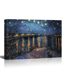 Starry Night over Rhone by Van Gogh (Canvas, Digital Printed) Size: 30 cm x 40 cm