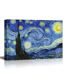 The Starry Night by Van Gogh (Canvas, Digital Printed) Size: 30 cm x 40 cm