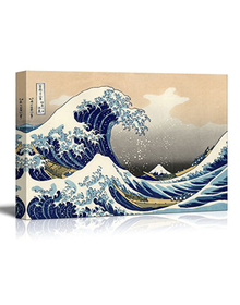 Great Wave by Katsushika Hokusai (Canvas, Digital Printed) Size: 30 cm x 40 cm