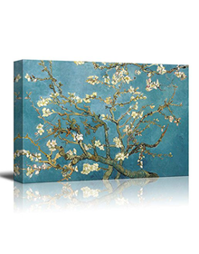 Almond Blossoms by Vincent Van Gogh (Canvas, Digital Printed) Size: 30 cm x 40 cm