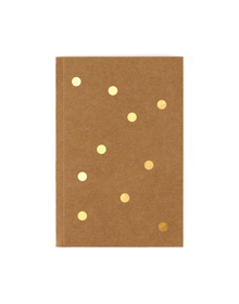 Gold Foil Notebook (Unruled, 90GSM, A5, 120 Pages)