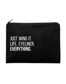 Wing Multi Purpose Pouch (Cotton Canvas, 20x13cm, Black)