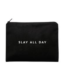 SLAY Multi Purpose Pouch (Cotton Canvas, 20x13cm, Black)